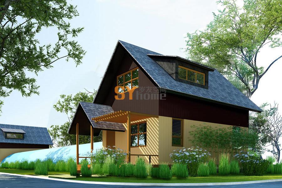 SYM018|生态木屋 两室两厅一厨两卫  高端大气 68㎡