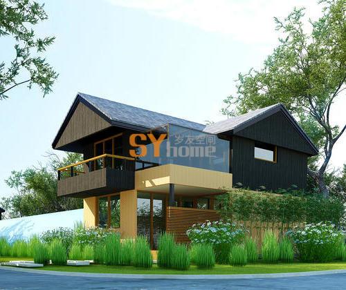 SYM016|两室两厅一厨三卫,带阳光房 双层小木屋