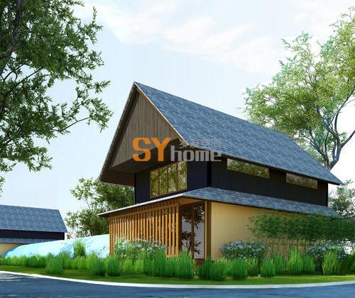 SYM017|生态木屋 70㎡ 简约大气 双层住宅
