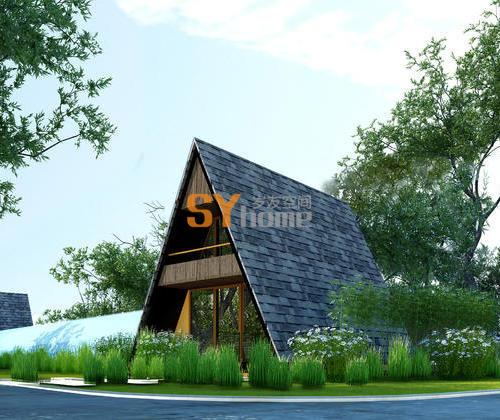 SYM015|新型A字形住宅 两室两厅一厨两卫  双层木屋