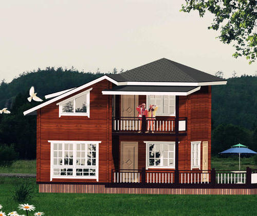 SYM030, heavy wooden light wood structure of 100 flat double cabin