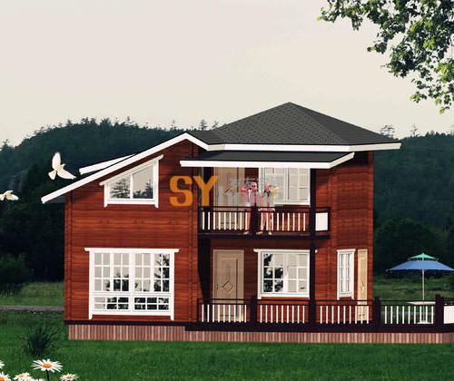 SYM030|重木轻木结构 100平双层木屋
