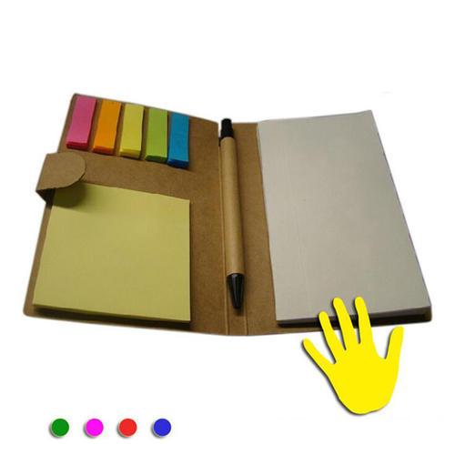 文具定制牛皮纸组合带笔便签本