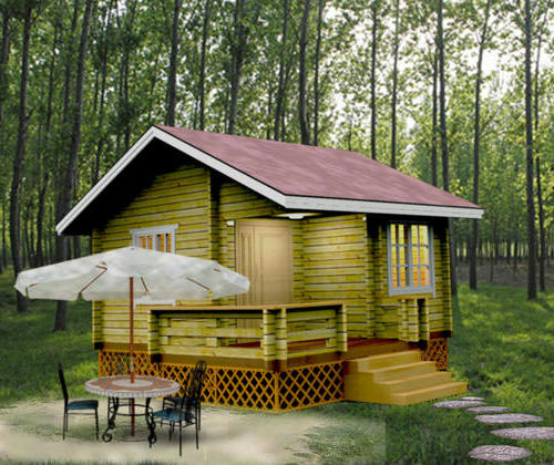 SYM026, heavy wooden balsa wood structure building houses 22 square hut