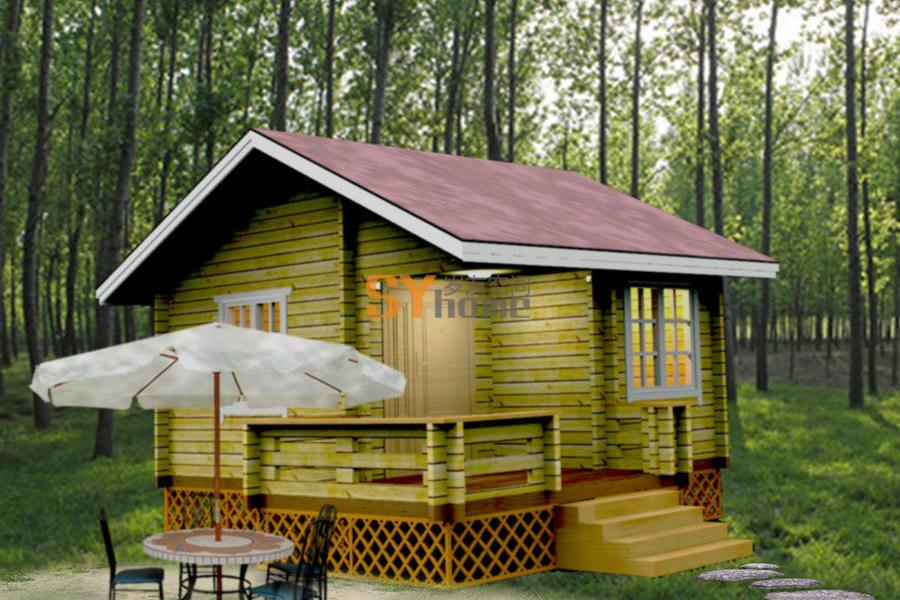 SYM026|木结构房屋 重木轻木房屋 22平小屋