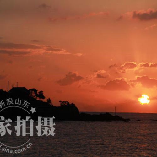 【观海】日出东方红胜火,海鸥飞出彩云间~~