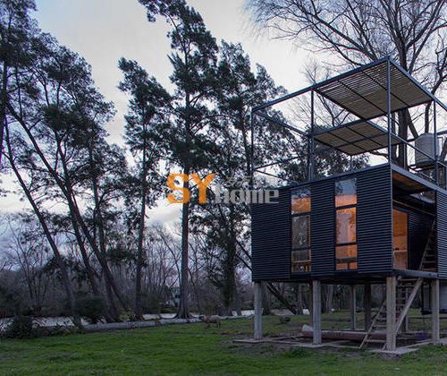 在阿根廷小岛上设计的Delta自然小屋