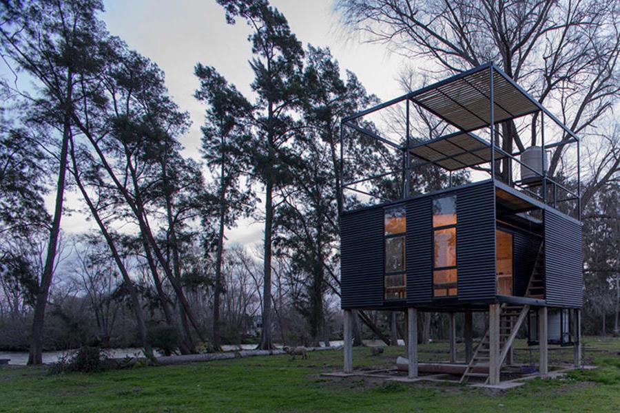 在阿根廷小島上設計的Delta自然小屋