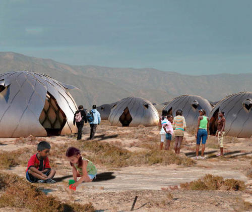 Peru students build a disaster prone cabin that can be assembled quickly