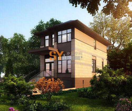 SYG016|简约雅致270平米加拿大 轻钢度假别墅