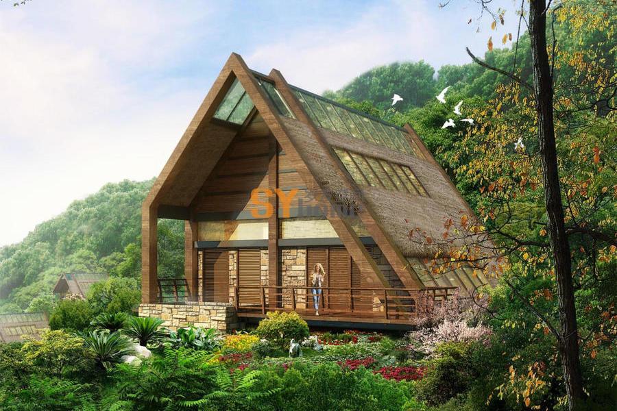 SYG003|钢结构房屋 现代温泉两居室