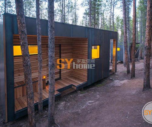 Colorado建筑系学生设计的覆盖热轧钢板的微型小屋