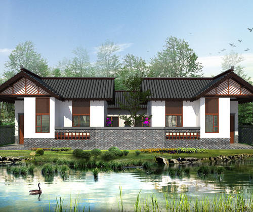 SYG021, rural residential housing endowment Huizhou architecture 70 square meters two bedroom