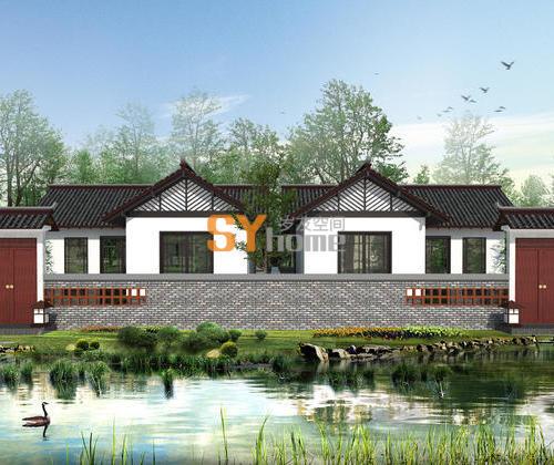 SYG020|乡村徽派建筑 住宅  养老住宅 45㎡  一室户