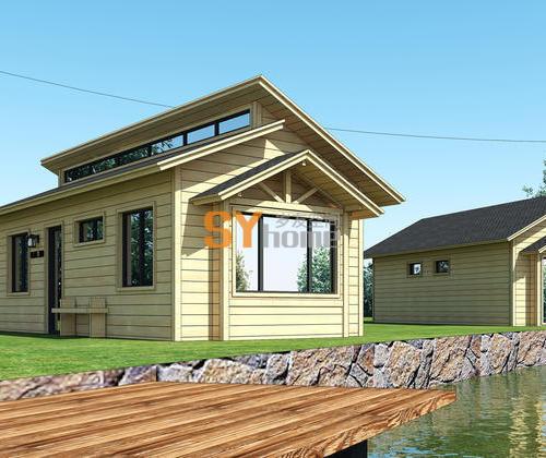 SYG032|双坡乡村风格住宅  轻钢结构房屋  小木屋 两室可住4人