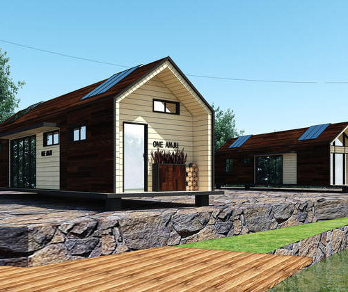 SYG030, the Nordic minimalist style residential light steel structure housing two room cabin can accommodate 4 people