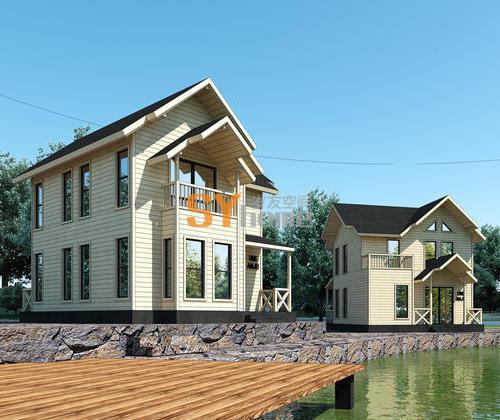 SYG034|美式简约住宅 钢结构木屋 双层别墅型住宅 大房间