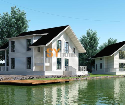 SYG033|美式简约住宅 钢结构木屋 双层别墅型住宅 三房两室
