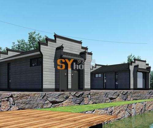 SYG029|徽派轻钢结构木屋  旅游住宅 适合做宾馆酒店