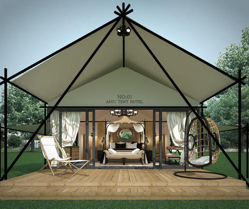 SYZ011, hotel style real map room tent tent cloud