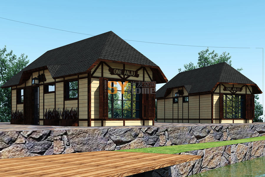 SYG031|轻钢结构木屋  法式风格 28㎡ 可住4人