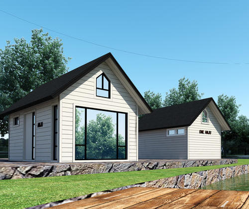 SYG027, light steel structure and various color optional simple rural residential house