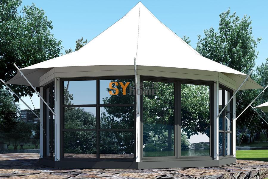 正八边形一室户 酒店帐篷 可住2人 接待 住宿 工作 三不误