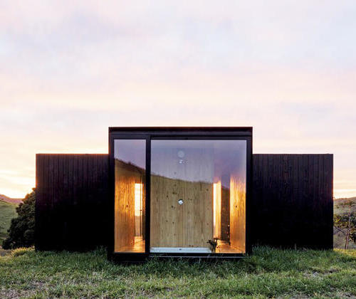 A cottage in a bucolic cottage; a modular cottage