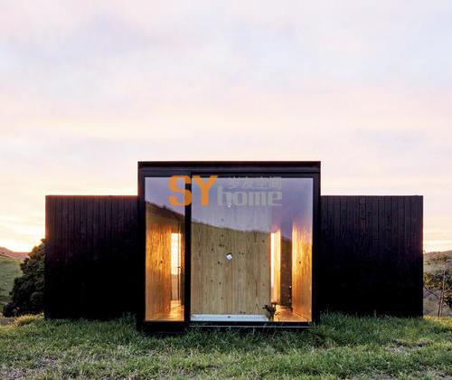 田园牧歌中的度假小屋  模块化小屋