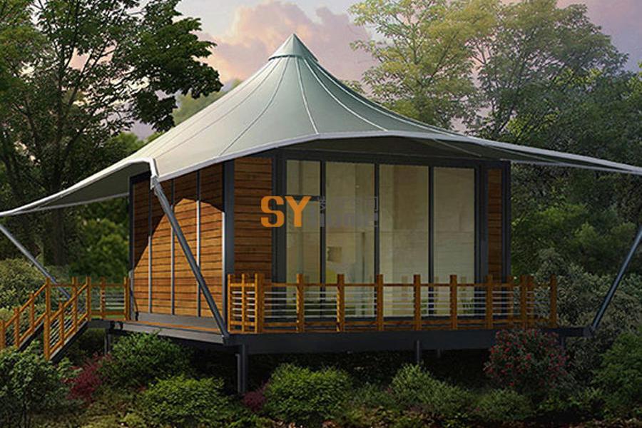 风情度假屋 木结构 新型绿色低碳房屋