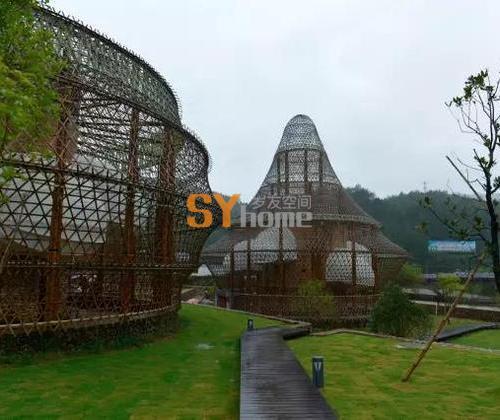 在江南,11位建筑大师联手用竹子编了一个绝世的村落