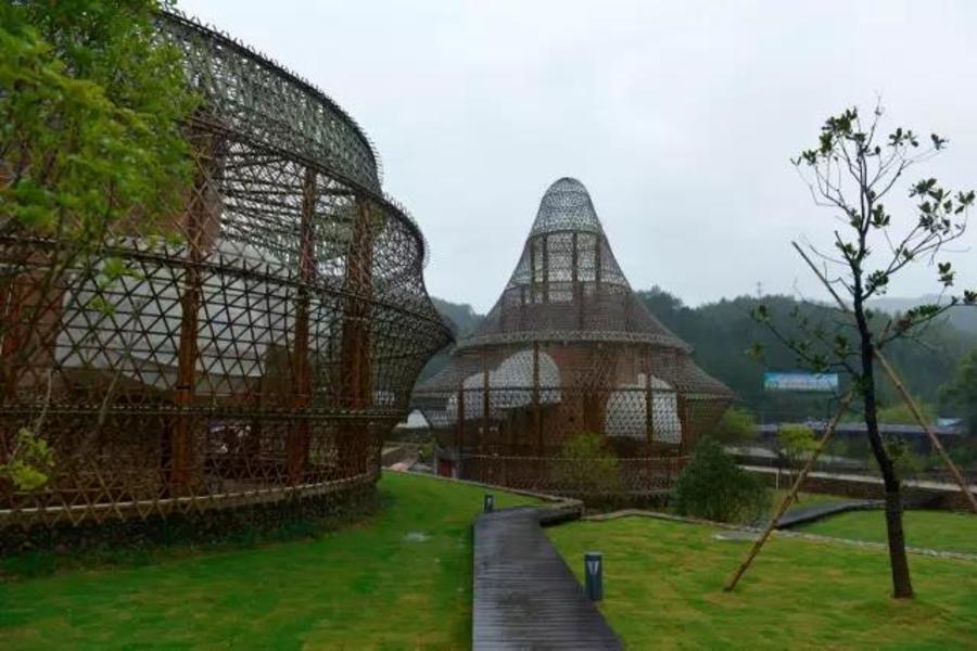 在江南,11位建筑大師聯手用竹子編了一個絕世的村落