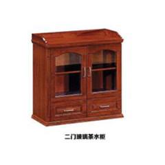 二門玻璃茶水柜 GZ-CSG001
