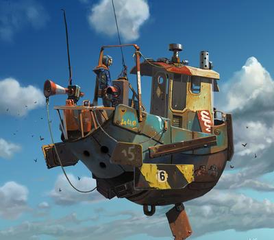 动漫飞船设计