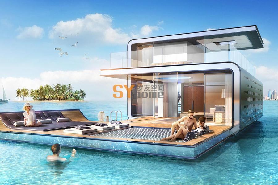迪拜海上漂浮建筑  不差钱的土豪们花了2100万就是为了盖这货