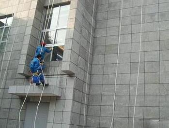 南京外墙清洗现场