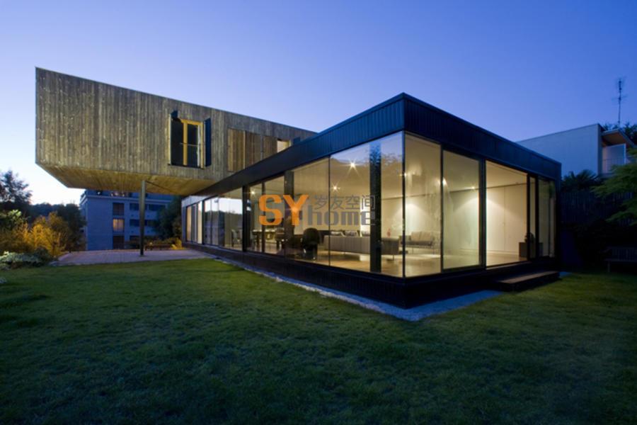 现代浮动装配式房屋