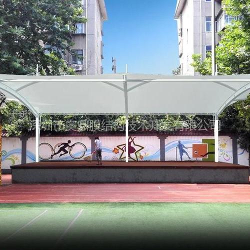 广州舞台膜结构 社区舞台膜结构工程 奥鼎张拉式膜结构工程承包