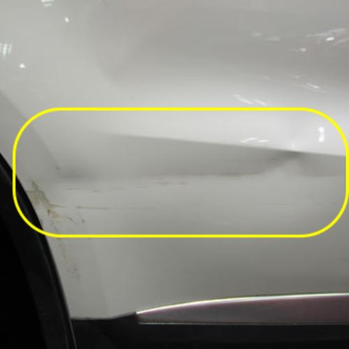 白色途安门板的大凹陷修复