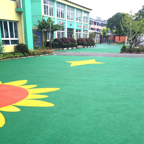 上海采红塑胶跑道施工案例—盐仓幼儿园