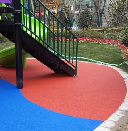长风二村幼儿园彩色橡胶颗粒运动场地