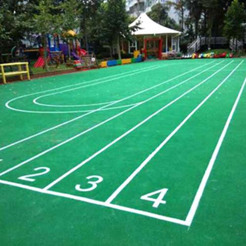 上海采红塑胶跑道施工案例—长风二村幼儿园