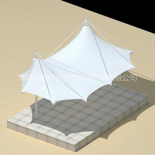 小品舞台膜结构工程已完工—奥鼎膜结构技术开发