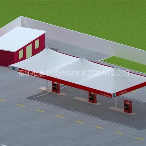 南宁加油站膜结构|奥鼎张拉式膜结构工程设计与施工,专业的服务团队