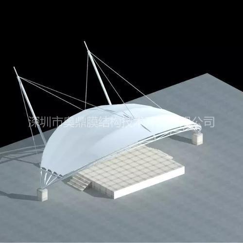 小品舞台膜结构 奥鼎膜结构工程 张拉膜结构设计 深圳膜结构公司