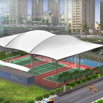 桐梓球场膜结构工程已经完工—奥鼎膜结构设计,外观优美