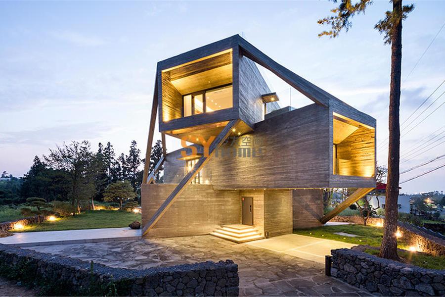 体块的的旋转堆叠与交织的现代别墅