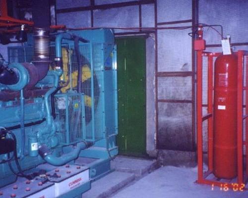 柴油发电机灭火案例