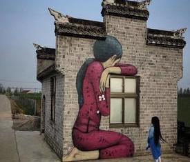 街头上涂鸦墙绘,成为一道道风景
