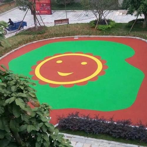 上海采红塑胶跑道施工案例——东莞万科城小区EPDM橡胶地垫完工